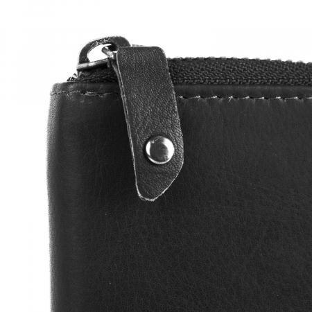 Portofel dama din piele naturala, The Chesterfield Brand, Melany, cu protectie anti scanare RFID, Negru [2]