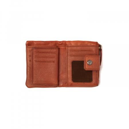 Portofel dama din piele naturala, The Chesterfield Brand, Metz, cu protectie anti scanare RFID, Maro coniac [1]