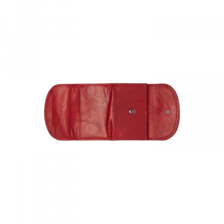 Portofel dama din piele naturala, The Chesterfield Brand, Newton, cu protectie anti scanare RFID, Rosu [3]