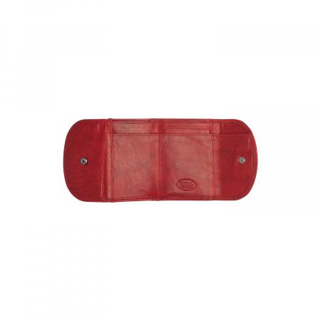 Portofel dama din piele naturala, The Chesterfield Brand, Newton, cu protectie anti scanare RFID, Rosu [2]
