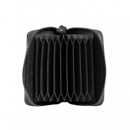Port carduri din piele naturala, The Chesterfield Brand, Robin, cu protectie anti scanare RFID, Negru [4]