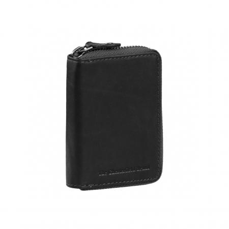 Port carduri din piele naturala, The Chesterfield Brand, Robin, cu protectie anti scanare RFID, Negru [0]