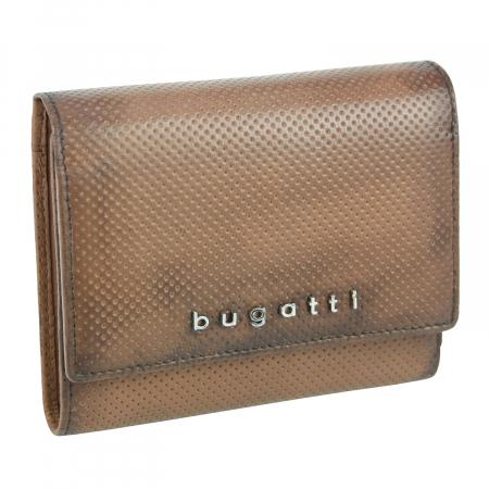 Portofel dama maro coniac, piele naturala cu perforatii, Bugatti mode Perfo 702 [0]