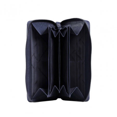 Portofel dama, The Chesterfield Brand, cu protectie anti scanare RFID, din piele naturala, Nova, Bleumarin [1]