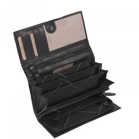 Portofel dama, The Chesterfield Brand, cu protectie anti scanare RFID, din piele naturala, Mirthe, Negru [3]