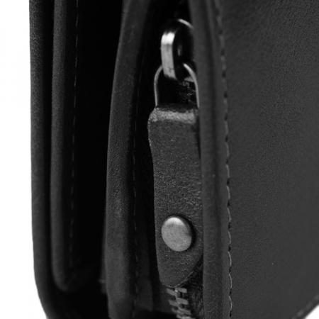 Portofel dama, The Chesterfield Brand, cu protectie anti scanare RFID, din piele naturala neagra, Aileen [4]