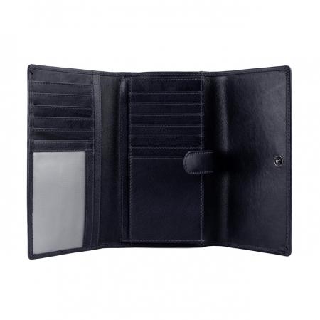Portofel dama, The Chesterfield Brand, cu protectie anti scanare RFID, din piele naturala neagra, Aileen [15]