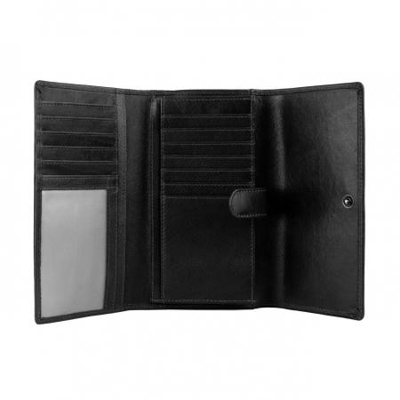 Portofel dama, The Chesterfield Brand, cu protectie anti scanare RFID, din piele naturala neagra, Aileen [2]