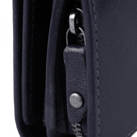 Portofel dama, The Chesterfield Brand, cu protectie anti scanare RFID, din piele naturala neagra, Aileen [13]