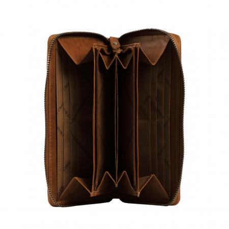 Portofel dama, The Chesterfield Brand, cu protectie anti scanare RFID, din piele naturala, Nova, Bleumarin [5]
