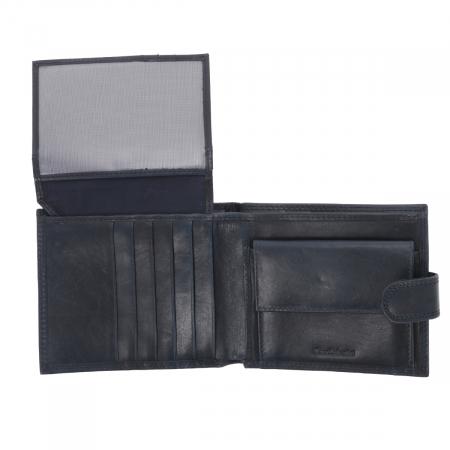 Portofel din piele bleumarin inchis Valentini pentru barbati, model 298 [3]