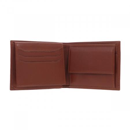 Portofel din piele fina maro coniac Eminsa pentru barbati, model 1013 [2]