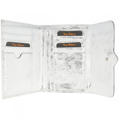 Portofel din piele naturala, model Tony Bellucci T866 argintiu [2]