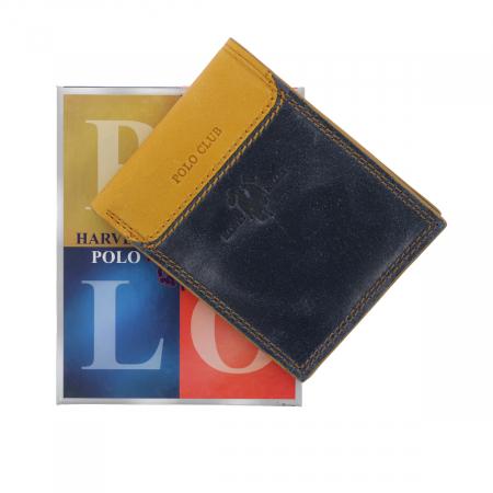 Portofel din piele naturala Polo Club bleumarin, model 292 [0]
