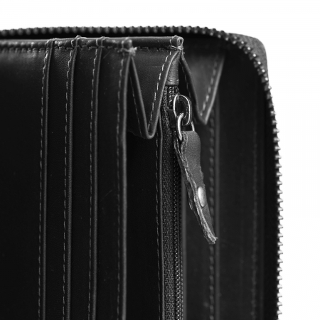 Portofel din piele naturala The Chesterfield Brand, cu protectie anti scanare RFID, Halle, Negru [2]