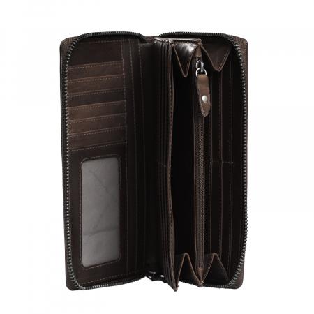 Portofel din piele naturala The Chesterfield Brand, cu protectie anti scanare RFID, Halle, Maro inchis [3]
