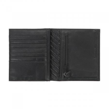 Portofel din piele neagra Valentini pentru barbati, model 255 [2]