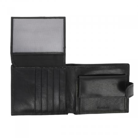 Portofel din piele neagra Valentini pentru barbati, model 298 [3]