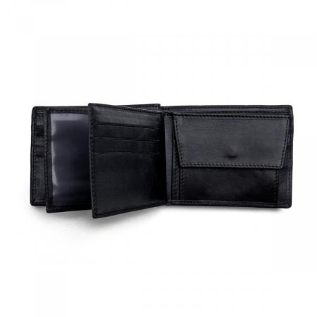 Portofel din piele pentru barbati,negru nappa S105 [1]
