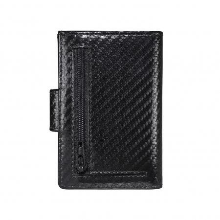 Portcarduri securizat, din piele naturala, cu protectie RFID, Bugatti, Secure Smart Deluxe, Negru carbon [6]