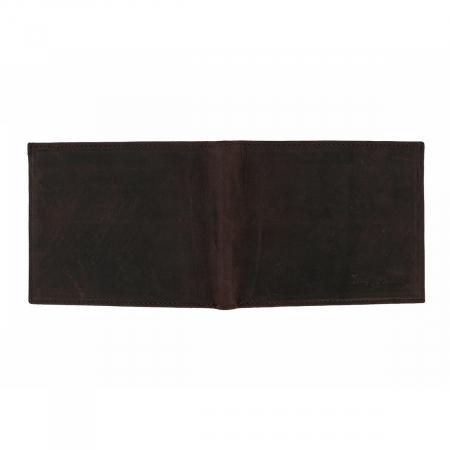 Portofel slim din piele maro ruginiu Tony Bellucci pentru barbati, model T138-07 [3]
