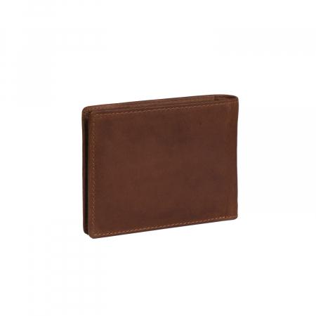 Portofel slim, The Chesterfield Brand, cu protectie anti scanare RFID, din piele naturala, Danny, Maro coniac [4]