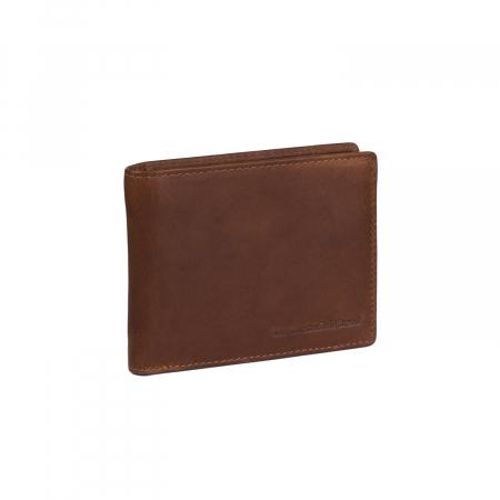 Portofel slim, The Chesterfield Brand, cu protectie anti scanare RFID, din piele naturala, Danny, Maro coniac [0]