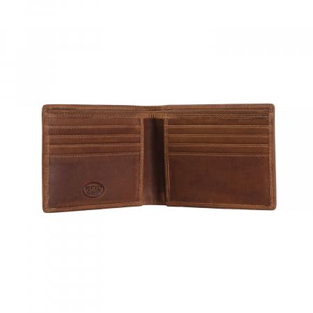 Portofel slim, The Chesterfield Brand, cu protectie anti scanare RFID, din piele naturala, Danny, Maro coniac [1]