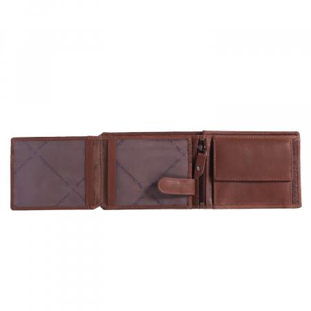 Portofel The Chesterfield Brand, cu protectie anti scanare RFID, din piele naturala, Marion, Maro coniac [2]
