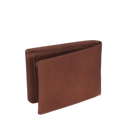 Portofel The Chesterfield Brand, cu protectie anti scanare RFID, din piele naturala, Marion, Maro coniac [4]