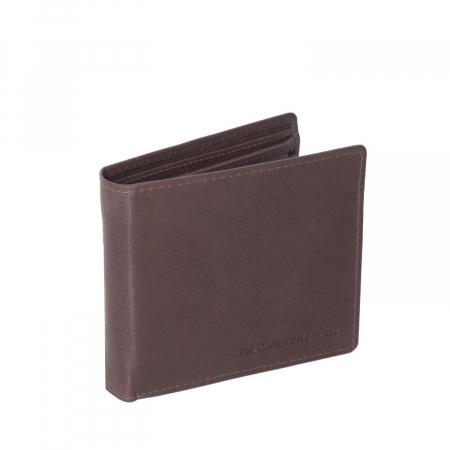 Portofel The Chesterfield Brand, cu protectie anti scanare RFID, din piele naturala, Ralph, Maro inchis [0]