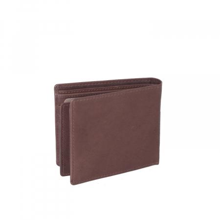 Portofel The Chesterfield Brand, cu protectie anti scanare RFID, din piele naturala, Ralph, Maro inchis [4]