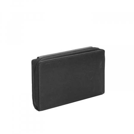 Portofel The Chesterfield Brand, cu protectie anti scanare RFID, din piele naturala moale, Ascot, Negru [5]