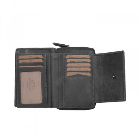 Portofel The Chesterfield Brand, cu protectie anti scanare RFID, din piele naturala moale, Ascot, Negru [2]