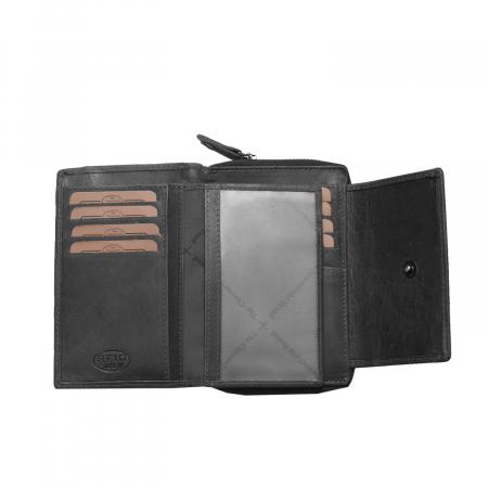Portofel The Chesterfield Brand, cu protectie anti scanare RFID, din piele naturala moale, Ascot, Negru [3]