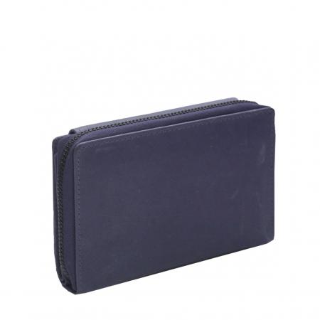 Portofel The Chesterfield Brand, cu protectie anti scanare RFID, din piele naturala moale, Ascot, Bleumarin [5]