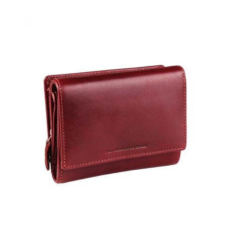 Portofel The Chesterfield Brand, cu protectie anti scanare RFID, din piele naturala, Avery, Rosu [0]