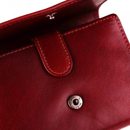 Portofel The Chesterfield Brand, cu protectie anti scanare RFID, din piele naturala, Avery, Rosu [3]