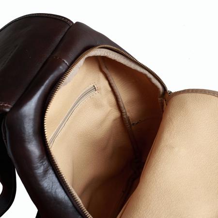 Rucsac  de dama din piele maro ciocolatiu model R101 [2]