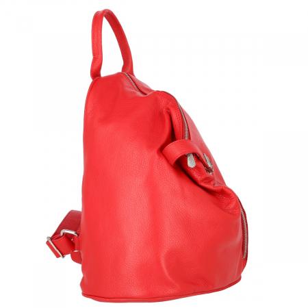 Rucsac de dama din piele moale rosie, model 251 [1]