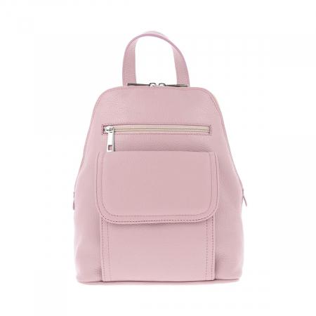 Rucsac de dama din piele naturala moale roz pudra, model 119 [1]