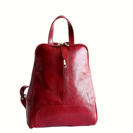 Rucsac  de dama din piele rosie model R102 [0]