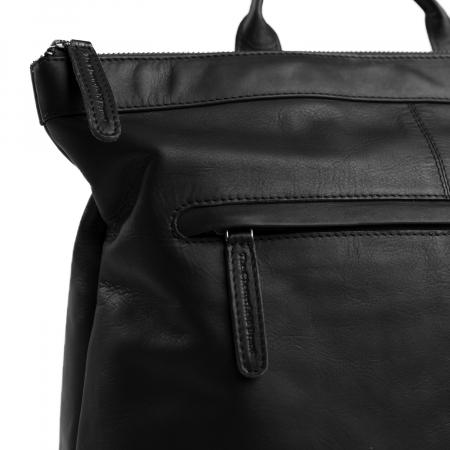 Rucsac de laptop din piele naturala, The Chesterfield Brand, Kuta 15.6 inch, Negru [2]