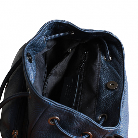 Rucsac din piele bleumarin model R100 [2]