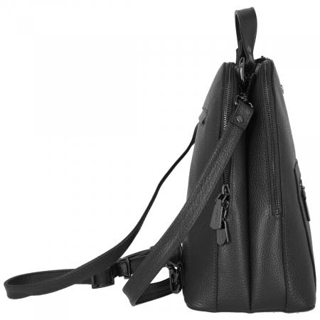 Rucsac din piele naturala neagra Tony Bellucci model T220 [3]