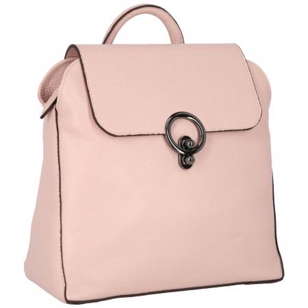 Rucsac din piele naturala roz pudra model 4114 [2]