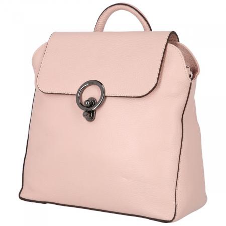Rucsac din piele naturala roz pudra model 4114 [3]