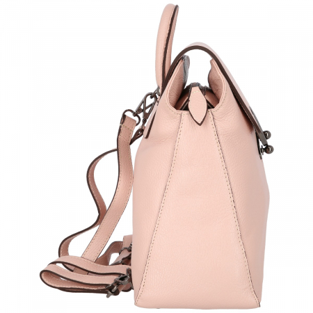 Rucsac din piele naturala roz pudra model 4114 [4]