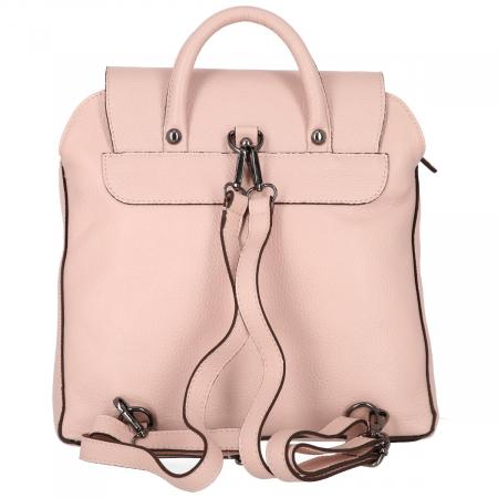 Rucsac din piele naturala roz pudra model 4114 [5]