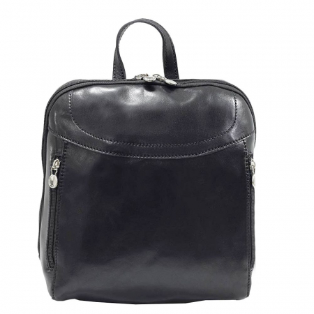 Rucsac din piele naturala vachetta neagra model 4430 [1]